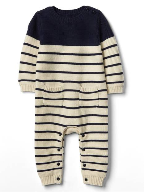 Baby Stripe Garter One-Piece