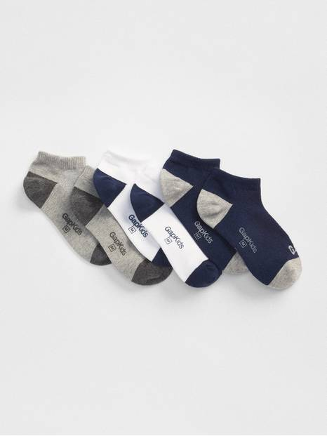 Kids Colorblock Ankle Socks (3-Pack)