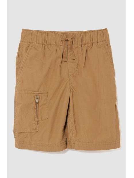 Zip Pull-On Shorts