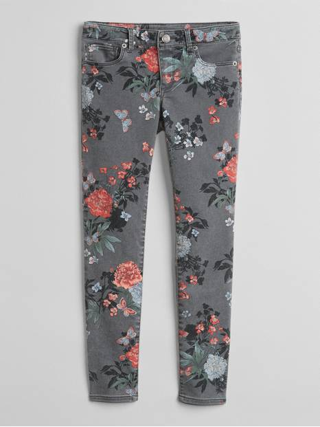 Super Skinny Jeans in Floral Print