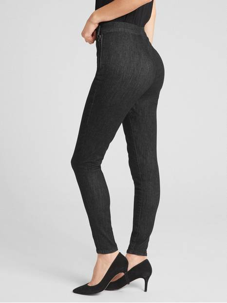 High Rise Side-Zip True Skinny Ankle Jeans in Sculpt