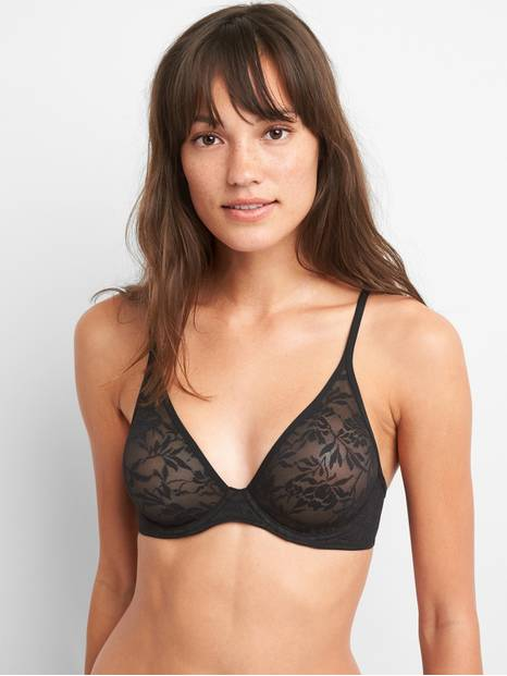 Bare Natural Plunge Lace Bra