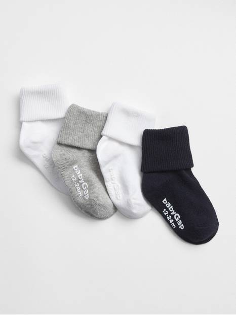 Toddler Roll Socks (4-Pack)