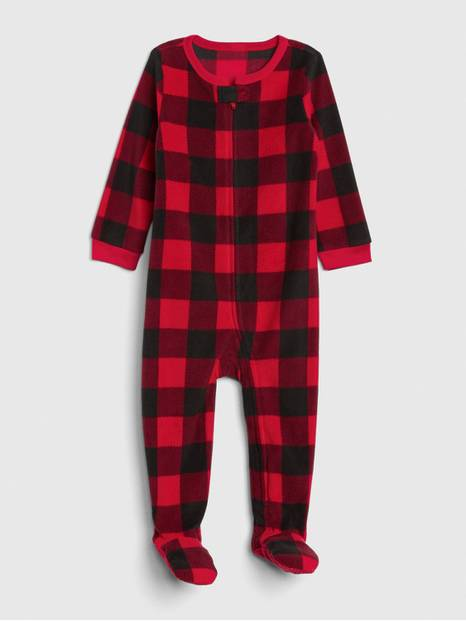 Buffalo Plaid Footed One-Piece