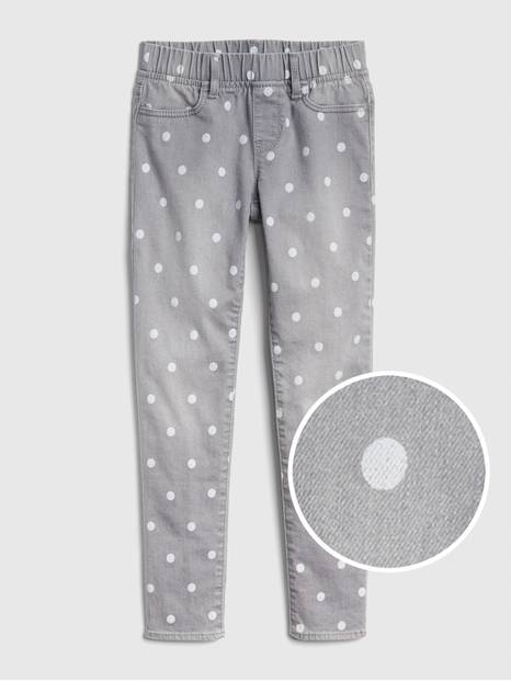 Kids Dot Print Jeggings with Fantastiflex