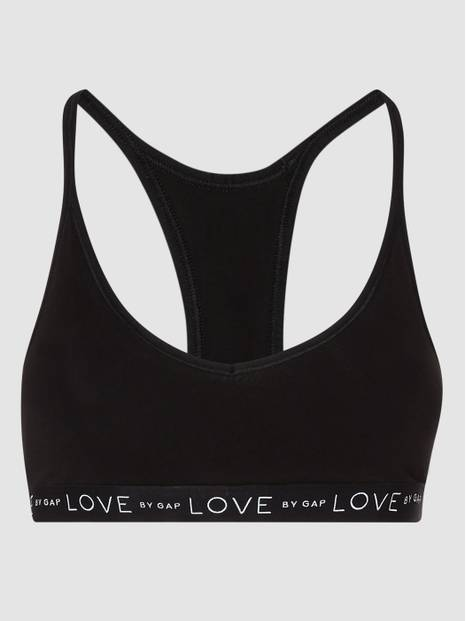 Logo Stretch Cotton Racerback Bralette
