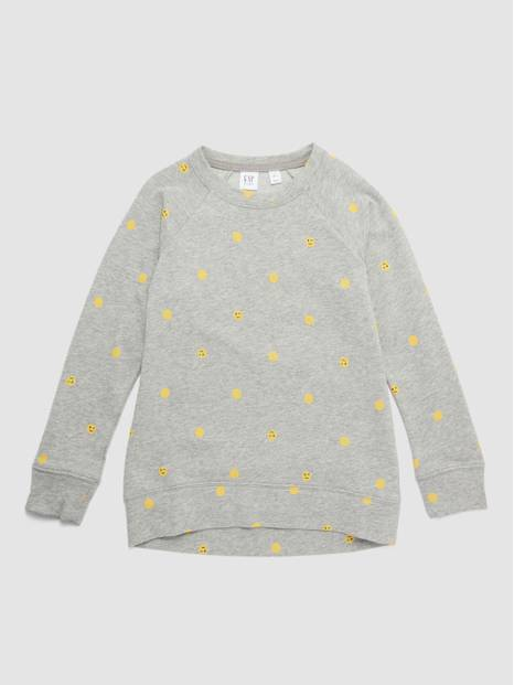 Smiley Raglan Sweatshirt