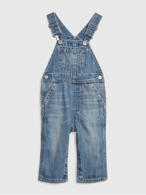 Baby Organic Cotton Denim Overalls