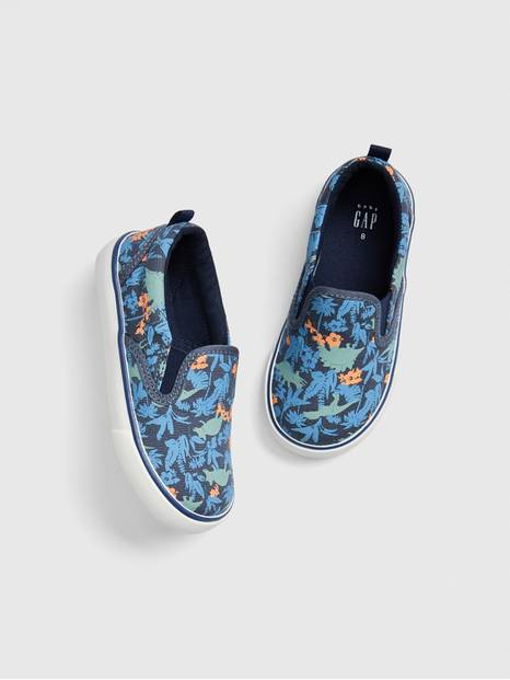 Toddler Dino Slip-On Sneakers