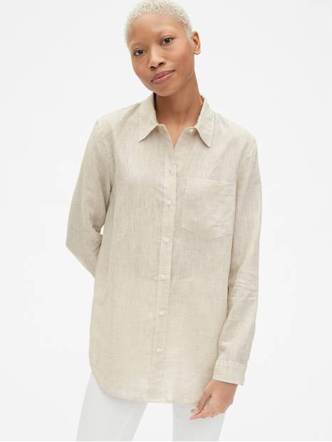 Boyfriend Shirt in Linen