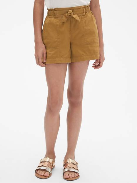 Kids Tie-Belt Utility Shorts