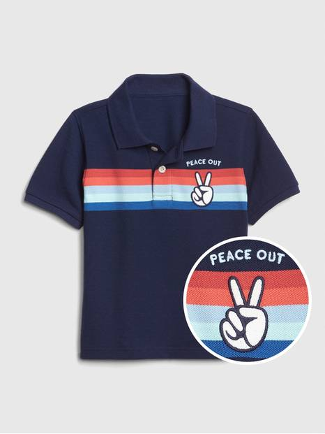 Toddler Colorblock Graphic Polo T-Shirt