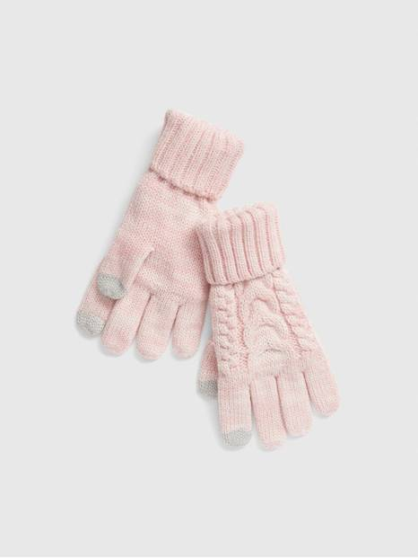 Kids Cable-Knit Gloves