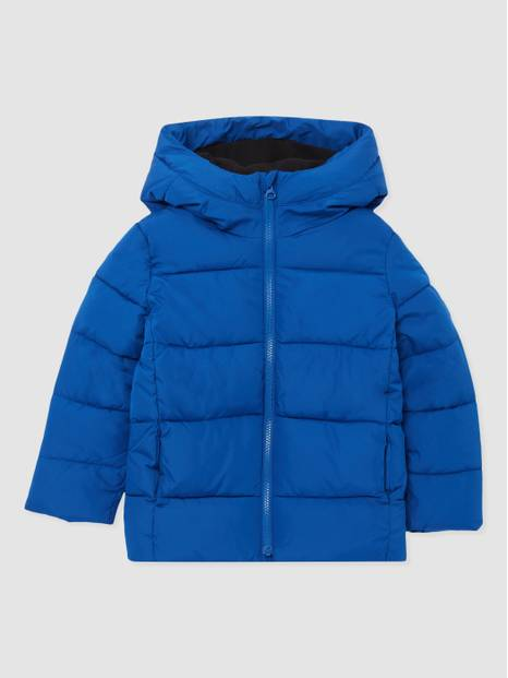 Kids Full-Zip Down Hooded Puffer Jacker