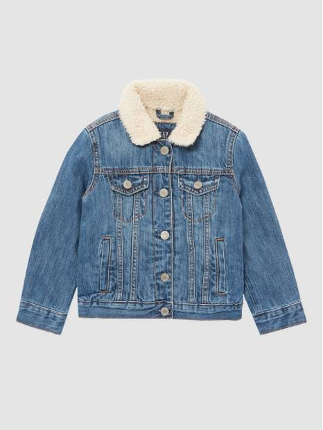 Kids Denim Sherpa Jacket