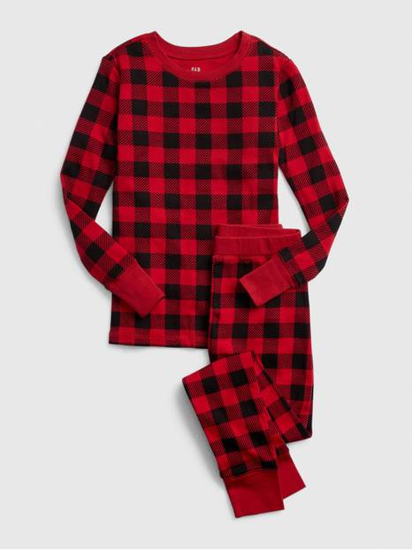 Kids Buffalo Plaid PJ Set