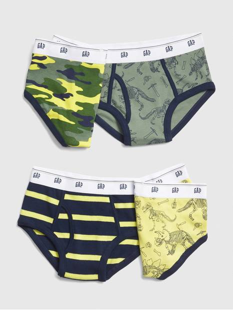 Kids Dino Briefs (4-Pack)