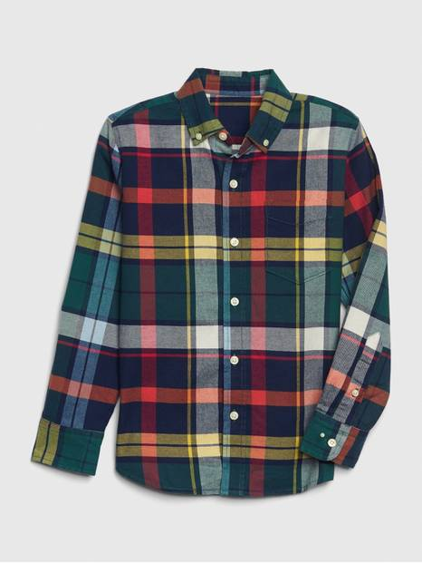 Kids Flannel Stretch Shirt