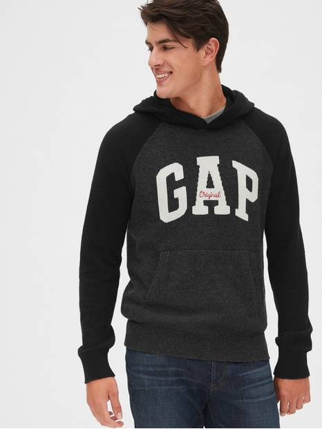 Gap Logo Intarsia Hooded Sweater