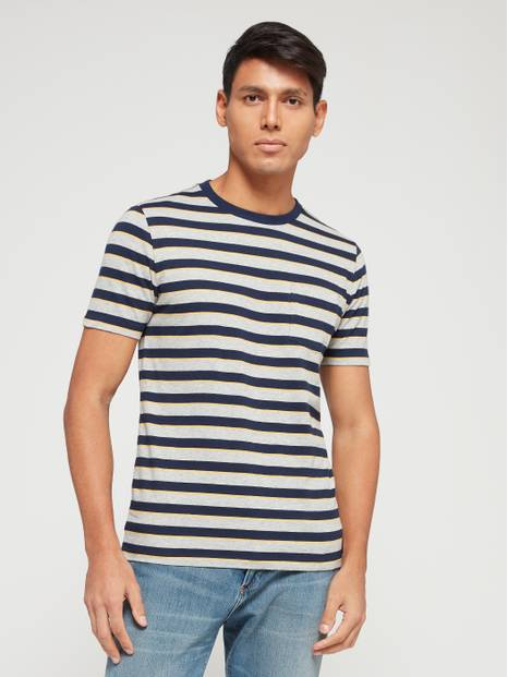 Everyday Pocket Stripe Short Sleeve T-Shirt