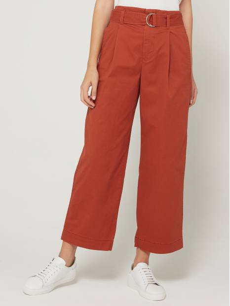 High-Rise Belted Wide-Leg Pants