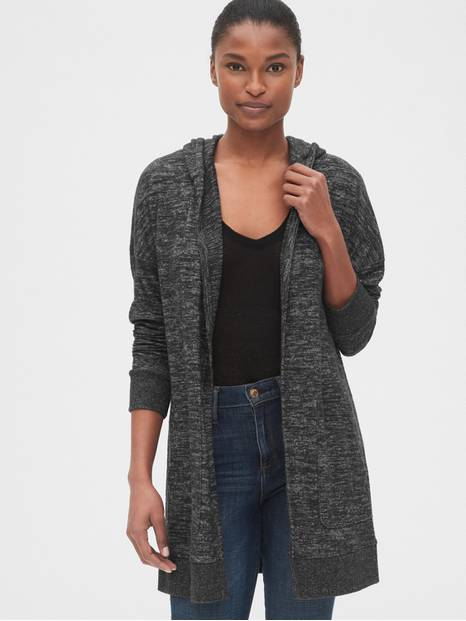 Softspun Longline Hooded Cardigan