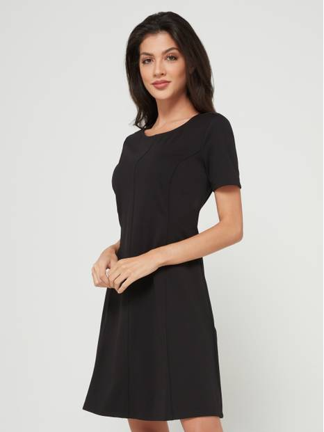 Fit & Flare Short Sleeve Dress