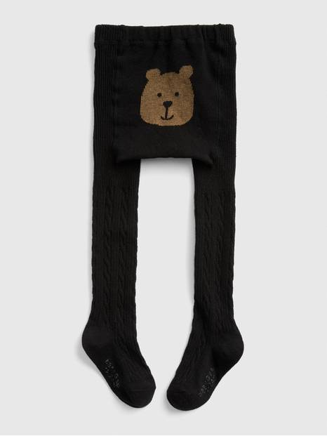 Toddler Cable-knit Bear Tight