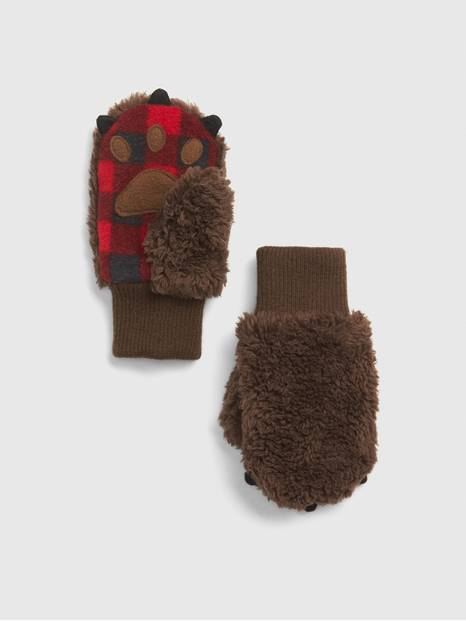 Toddler Sherpa Bear Mittens