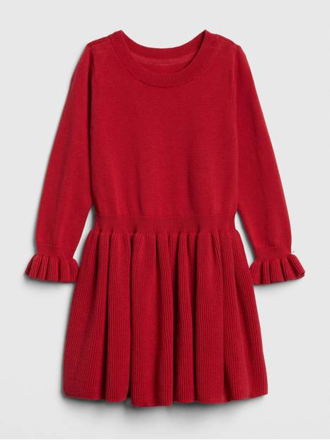 Toddler Ruffle Sweater Dress