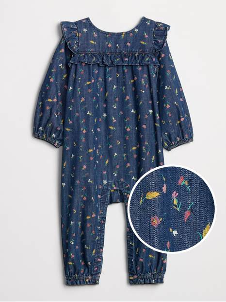 Baby Ruffle Denim One-Piece