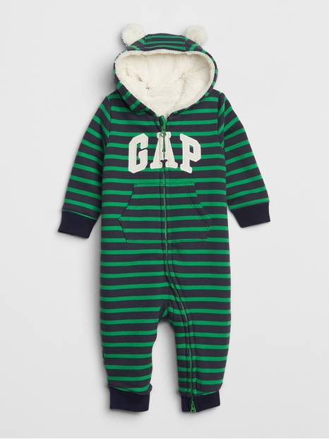 Baby Brannan Bear Gap Logo Sherpa One-Piece