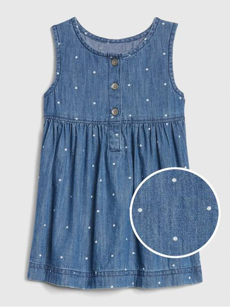 Baby Sleeveless Denim Dress