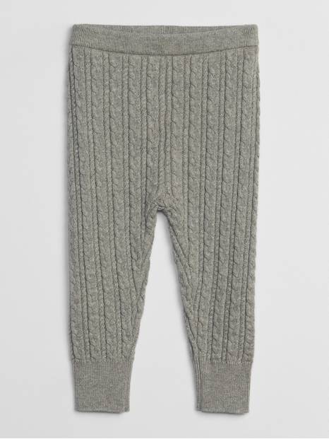Baby Cable-Knit Sweater Leggings