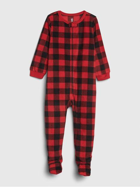 babyGap Buffalo Plaid PJ Footed One-Piece