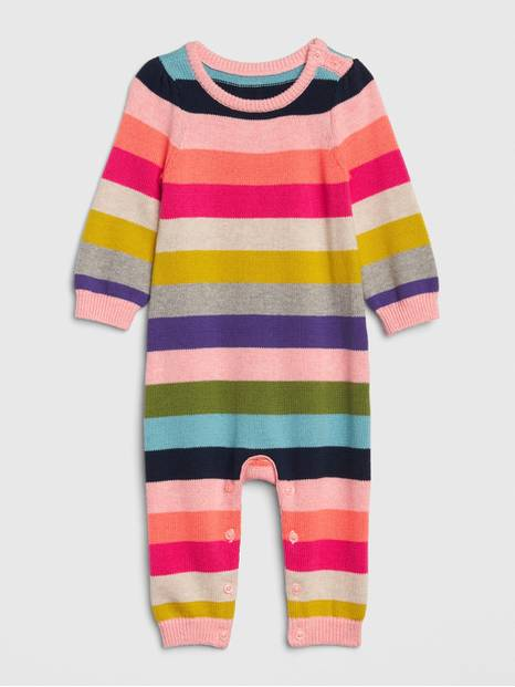 Baby Stripe Sweater One-Piece