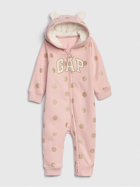 Baby Brannan Bear Sherpa Gap Logo One-Piece