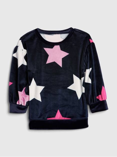 Toddler Star Plush Sweatshirt