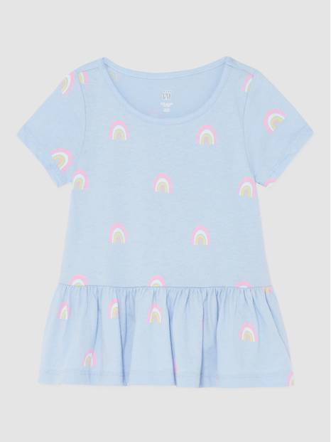 Toddler Gap Short Sleeves Printed Tunic