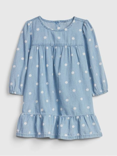 Toddler Denim Dot Dress