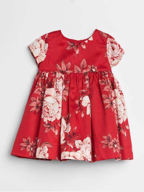 Baby Floral Empire-Waist Dress