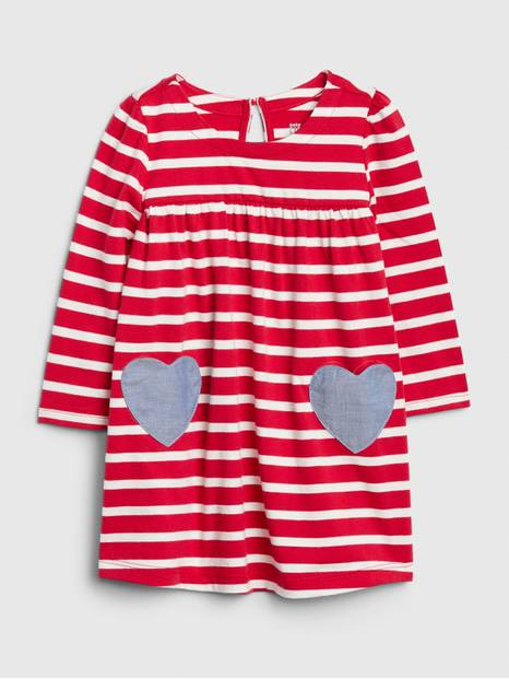 Baby Stripe Heart Dress
