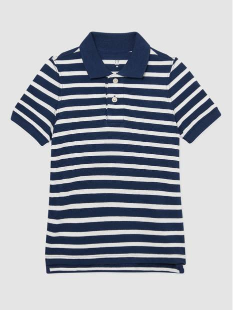 Kids Stripe Pique Polo Shirt