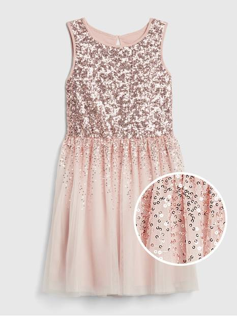 Kids Sequin Tulle Dress