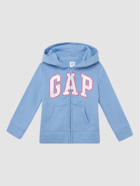 Kids Gap Logo Sequin Hooded Sweatshirt