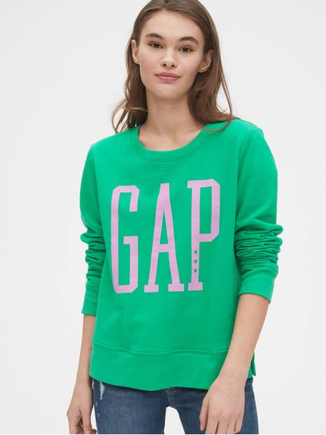 Metallic Logo Pullover Sweater