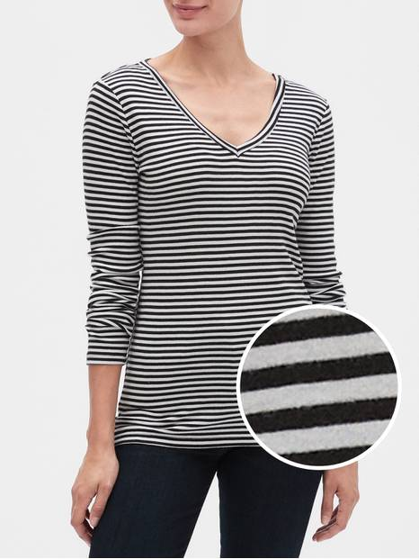 Favorite Stripe V-Neck T-Shirt