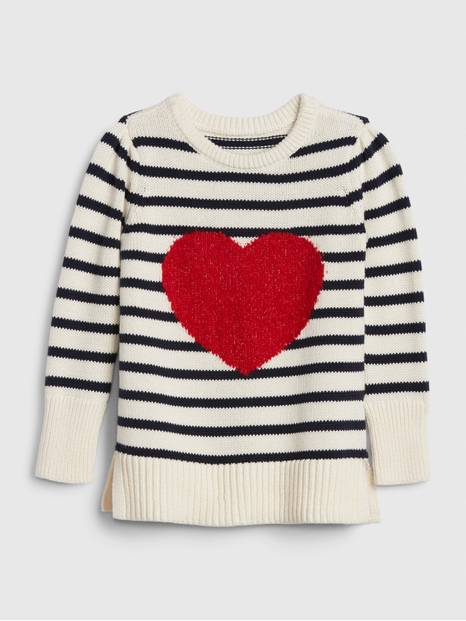 Toddler Intarsia Heart Sweater