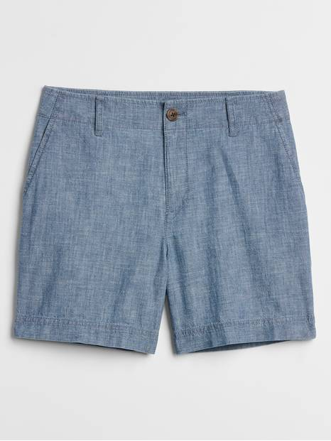 "5"" Shorts in Chambray"