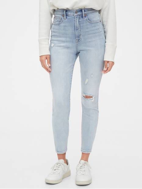 Sky High True Skinny Ankle Jeans with Secret Smoothing Pockets